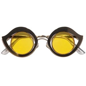 Retro Metal Eye Frame Sunglasses